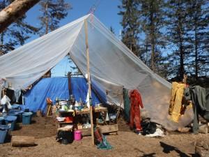 Camp at Reef Island