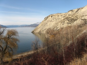 Three Mile Beach: serene and deserted in February, Penticton's only nude beach in July.