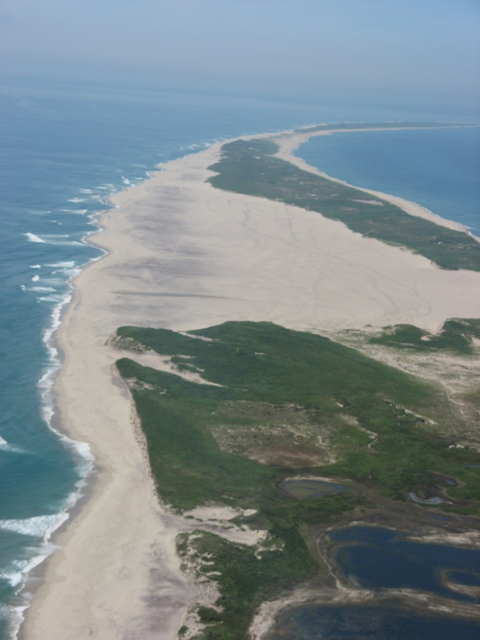Sable Island from the air.