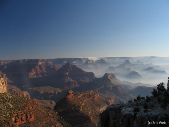 Mist over the Grand Canyon