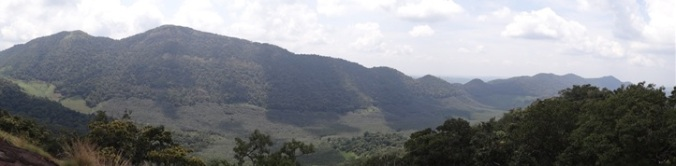 Rubber plantations in the valleys and forests above
