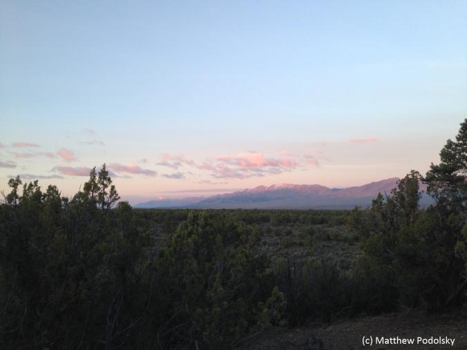 Sunrise on the Diamond Mountain Range, Nevada.