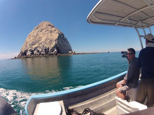 Filming Souls of the Vermilion Sea in the Sea of Cortez.