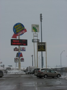 You can meet almost any need along the way, as long as you pick your stopping places carefully. If you find yourself suddenly in need of custom embroidery halfway across the continent, the World's Largest Truckstop in Iowa is the place for you.