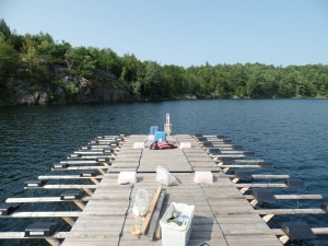 Centre stage: the dock at Round Lake