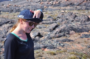 Me, with a rally cap – our field season could still be victorious late in the game (and it was!).