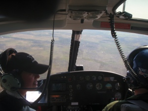 Helicopter flight in