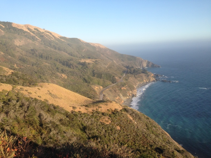 Looking out over Highway 1 from a research area in Big Sur.