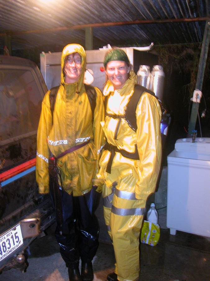 Mary Burke and me, drenched after a day of high-elevation field work