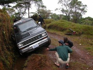 Getting the Bronco out of the ditch