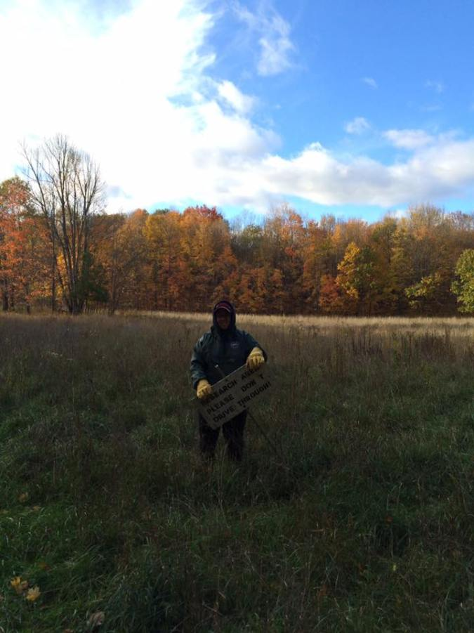 Last day of fieldwork in Wire Fence field (October 2016)