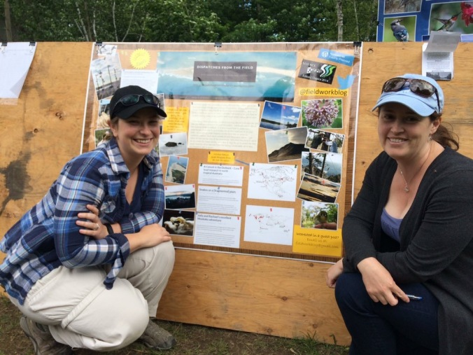 Sarah and Catherine present the Dispatches poster