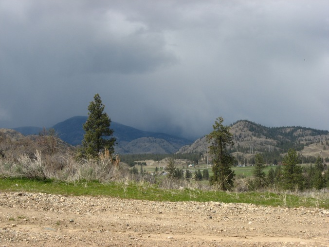 Chasing the rare patch of blue sky on a rainy day in the Okanagan Valley.